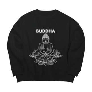 BUDDHA-仏像- 白ロゴ Big Silhouette Sweat