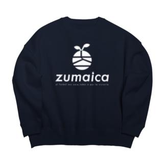 zumaica  white Big silhouette sweats