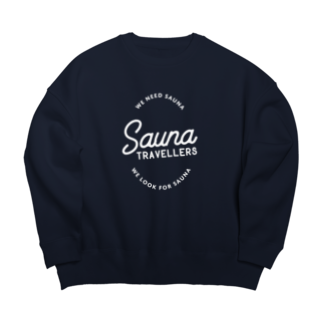 suuminのSauna TRAVELLERS Circle White Big silhouette sweats