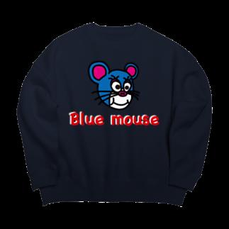 かずまろのblue mouse  Big silhouette sweats