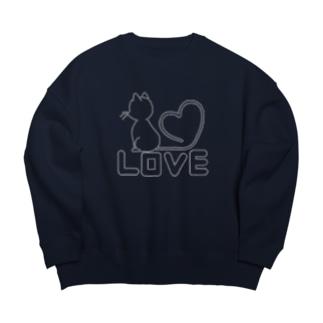 LOVE CAT3 Big silhouette sweats