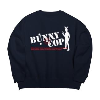 BUNNY COP LOGO W&R Big silhouette sweats
