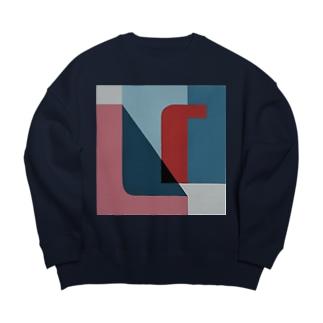 Geometric Letter series 'U' Big silhouette sweats