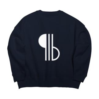 916 Logo white Big silhouette sweats