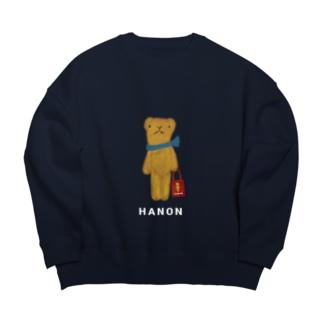 HANONのベロだしベア お買いもの Big silhouette sweats
