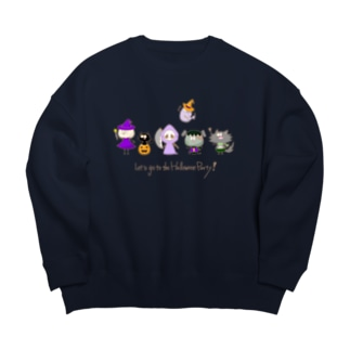 Let's go to the Halloween Party! Big Silhouette Sweat