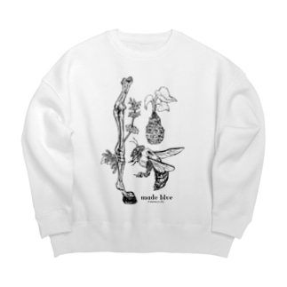 Kumanbachi , Bone of house & Spring plants Big silhouette sweats
