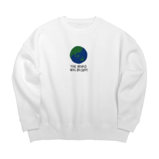 Earth -white- Big silhouette sweats