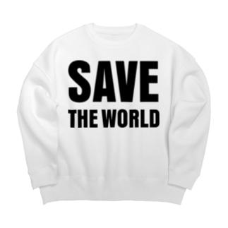 SAVE THE WORLD Big silhouette sweats