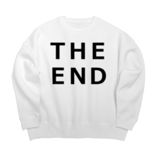 THE END (黒) Big silhouette sweats