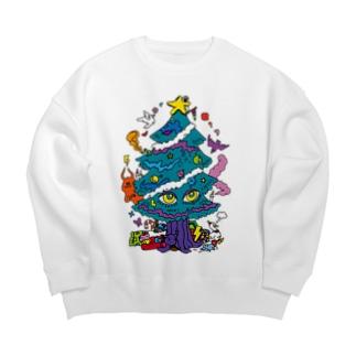 CALL MOLA 《Christmas tree》 Big silhouette sweats