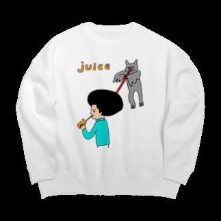 花くまゆうさくのJUICE(ジュース)2 Big silhouette sweats