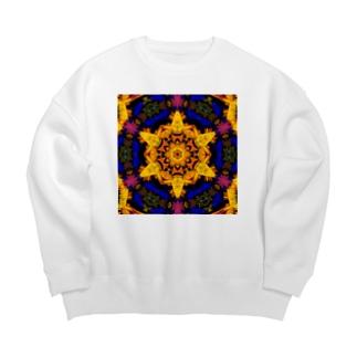ヘキサグラム_001 Big Crew Neck Sweatshirt