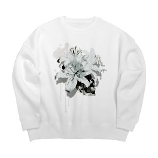 Lily Skull [White] Big silhouette sweats