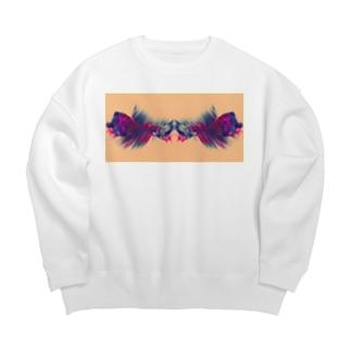 色彩の羽根 001 Big Crew Neck Sweatshirt