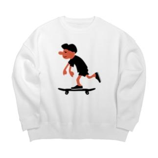 スケートボードゴーゴー Big silhouette sweats