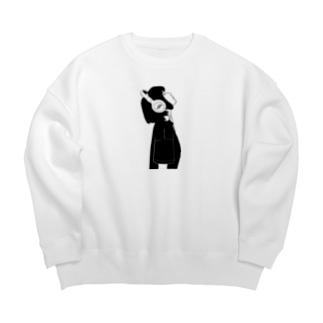 ヘッドフォン女子 Big silhouette sweats