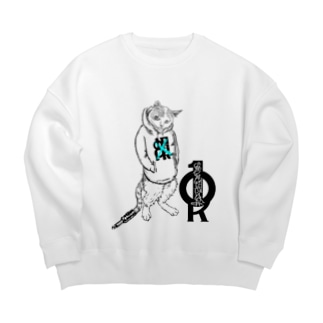 ONE PLUG DISordeR(cat model) Big silhouette sweats