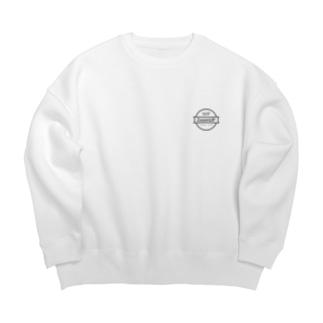 WP ZoomUP シンプル 黒ロゴ Big silhouette sweats
