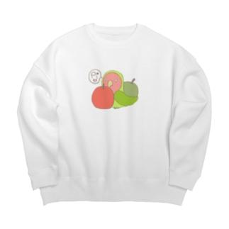 コザクラインコとりんご Big silhouette sweats