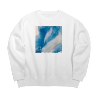 侵食された海 Big silhouette sweats