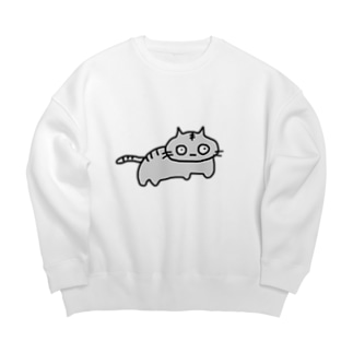 トラ猫の銀次 Big silhouette sweats