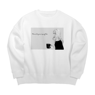 Wanna be your cup of tea  Big silhouette sweats