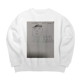 leader and  brothers Big silhouette sweats