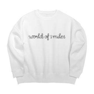 World of smiles ビックシルエットトレーナー Big Silhouette Sweat