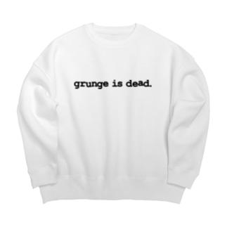 grunge is dead. Big silhouette sweats
