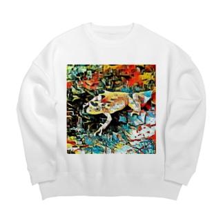 Fantastic Frog -Plein Air Version- Big Crew Neck Sweatshirt