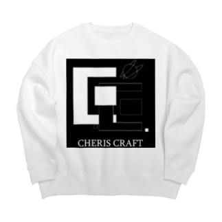 CherisCraftロゴ Big silhouette sweats