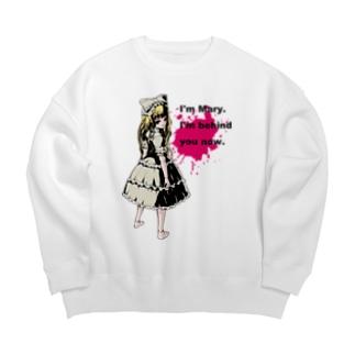 病みかわいいゴシックホラーデザイン Doll Splatte Mary Big silhouette sweats