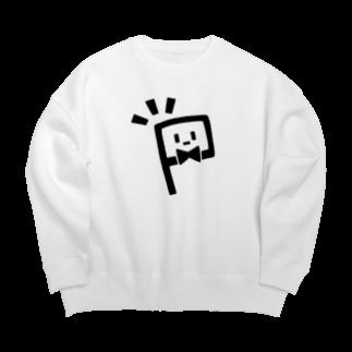 ぴくとの白いやつロゴ(主張が激しい)ビッグシルエットスウェット Big silhouette sweats