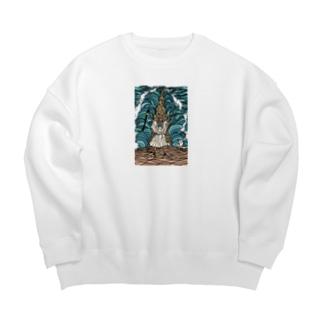 モーセの海開き 服が白いよ Big silhouette sweats