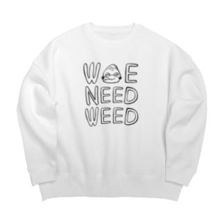 WE NEED WEED Big silhouette sweats