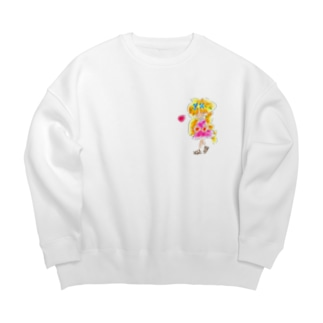 金髪の女の子 Big silhouette sweats
