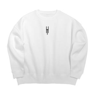 Tsubara Hayashi Official Logo 【White】 Big silhouette sweats