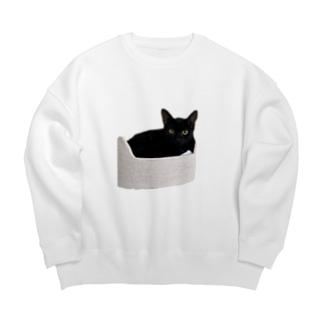 黒猫クロしゃん Big silhouette sweats
