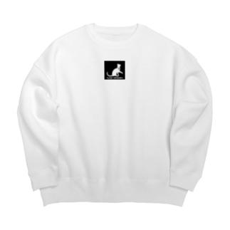 CAT HORIC (黒ロゴ) Big silhouette sweats