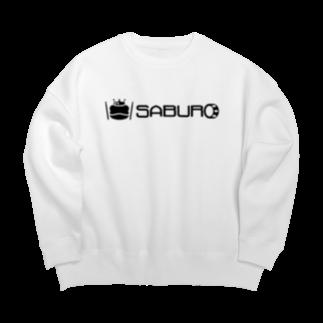 SABUROのカエル ドラム ロゴ ブラック Big silhouette sweats