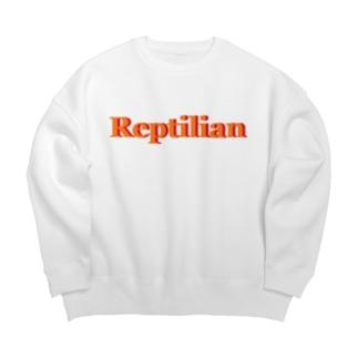 Reptilian ヒト型爬虫類 グッズ Big silhouette sweats