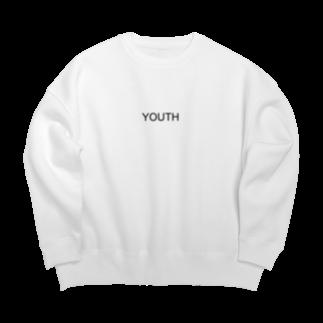 YOUTHのYOUTH Big Silhouett Sweat(White) Big silhouette sweats