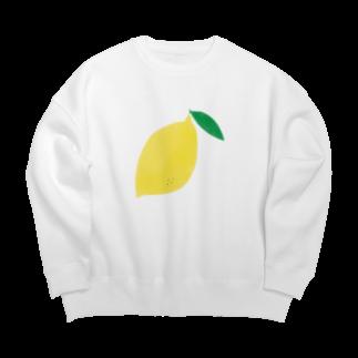 さかなにんげん太郎のレモン Big silhouette sweats