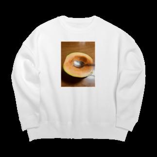 SHOP_KAGENEKOの贅沢食い-メロン- Big silhouette sweats