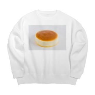 着るスイーツ チーズケーキ編 Big Crew Neck Sweatshirt
