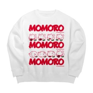 MOMOROS(WHITE) Big silhouette sweats
