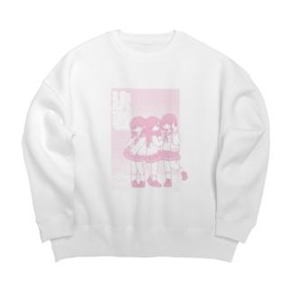 ピンクな女の子たち Big silhouette sweats