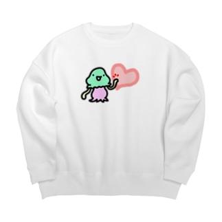 ハートタッチコペトン Big Crew Neck Sweatshirt