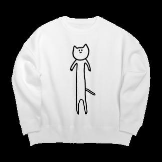 wacaco[ワカコ]の胴の長いネコ Big silhouette sweats
